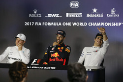 Valtteri Bottas, Mercedes AMG F1, Daniel Ricciardo, Red Bull Racing and Lance Stroll, Williams