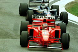 Michael Schumacher, Ferrari F310B and Heinz-Harald Frentzen, Williams FW19 Renault