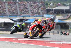 Dani Pedrosa, Repsol Honda Team; Marc Marquez, Repsol Honda Team; Valentino Rossi, Yamaha Factory Racing