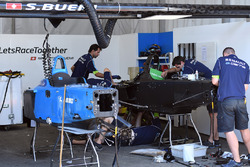 Renault eDams mechanics at work on building a new car for Sébastien Buemi, Renault e.Dams