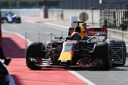 Max Verstappen, Red Bull Racing RB13, mit Sensoren am Auto