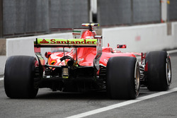 Kimi Raikkonen, Ferrari SF70H, Aero-Farbe am Heckflügel