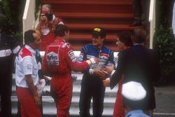 Winner Ayrton Senna, McLaren, second place Jean Alesi, Tyrrell, third place Gerhard Berger, McLaren, Ron Dennis, Mclaren
