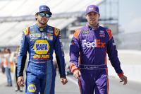 Denny Hamlin, Joe Gibbs Racing Toyota Chase Elliott, Hendrick Motorsports Chevrolet
