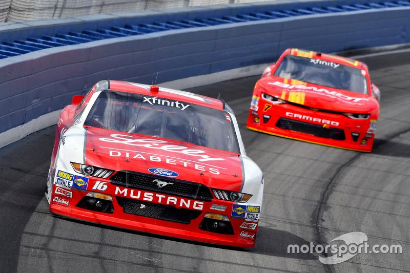 Ryan Reed, Roush Fenway Racing, Ford; Justin Allgaier, JR Motorsports,Chevrolet