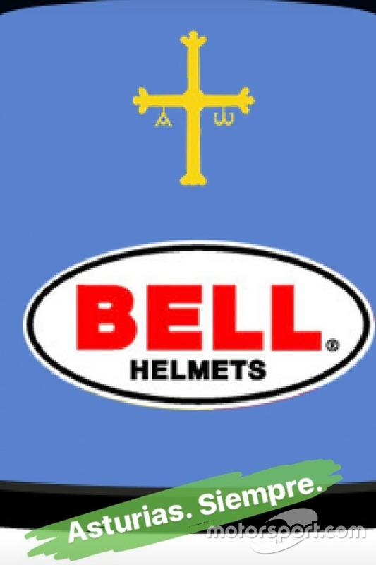 Фрагмент шлема Фернандо Алонсо для выступления в Indy 500