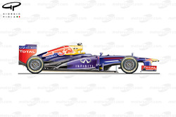 Red Bull RB9 side view, Singapore GP