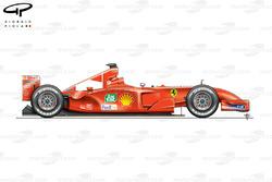 Ferrari F2001 side view