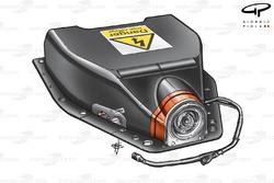 Ferrari F60 KERS battery