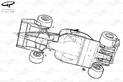 Ferrari F1-91B (643) 1991 года, вид снизу