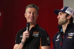 BTCC champion drivers Matt Neal and Andrew Jordan on the Autosport Stage