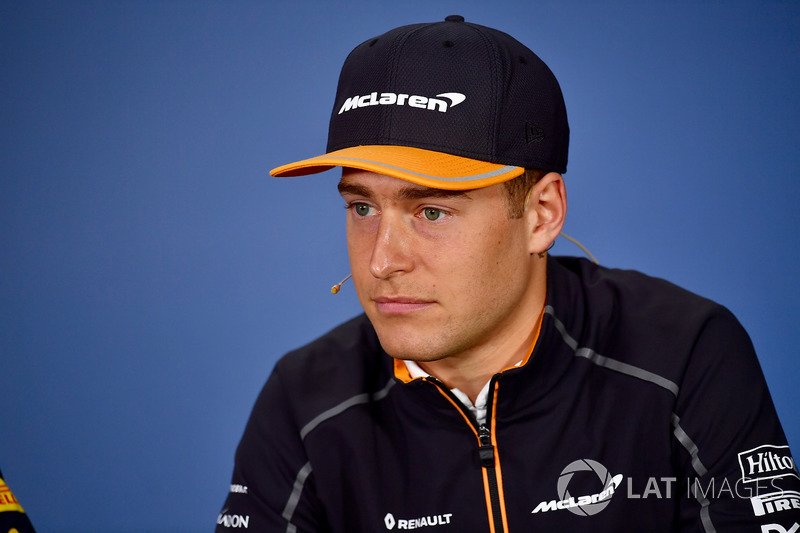 Stoffel Vandoorne, McLaren in the Press Conference