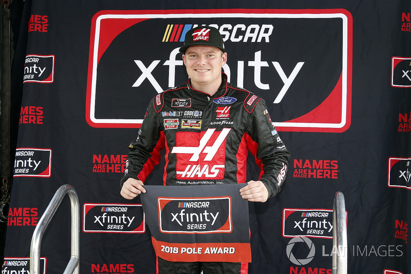Cole Custer, Stewart-Haas Racing, Ford Mustang Haas Automation pole award