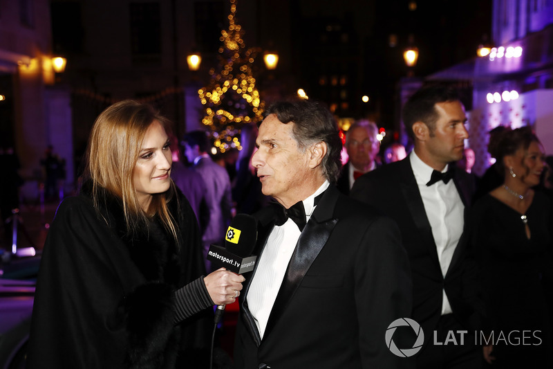 Nelson Piquet, con su hija Julia