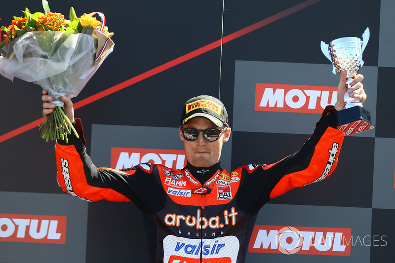 Podium : le troisième, Chaz Davies, Aruba.it Racing-Ducati SBK Team
