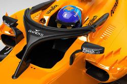 Le Halo de la McLaren MCL33 avec le logo Gandys