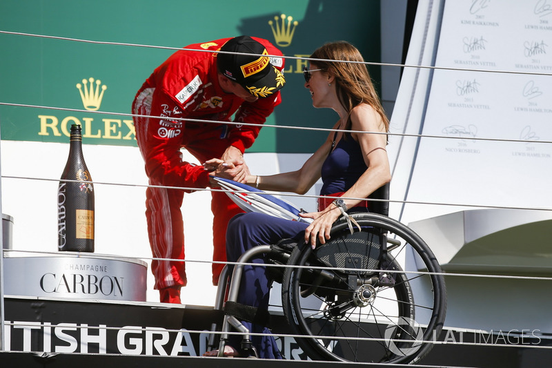 Dobogós ceremónia - Brit Nagydíj - F1 2018