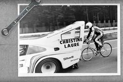 Porsche 935 pour un record à vélo