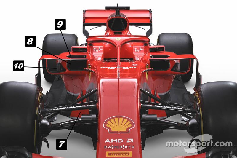 Ferrari SF71H ön bölüm detay