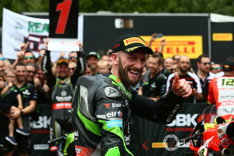 Il secondo classificato Tom Sykes, Kawasaki Racing
