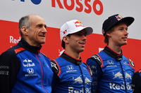 Franz Tost, Scuderia Toro Rosso Team Principal, Pierre Gasly, Scuderia Toro Rosso and Brendon Hartley, Scuderia Toro Rosso