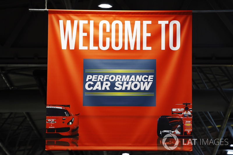 A sign for the Performance Car Show