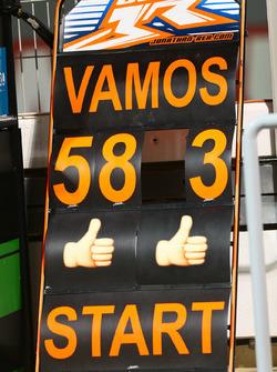 Boxentafel für Jonathan Rea, Kawasaki Racing