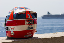A tribute to Olivier Panis on the helmet of Norman Nato, Racing Engineering