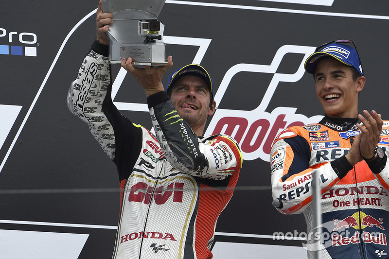 Podium: winner Marc Marquez, Repsol Honda Team and second place Cal Crutchlow, Team LCR Honda