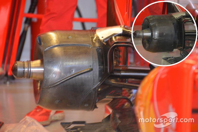 Ferrari SF16-H, Bremstrommel hinten