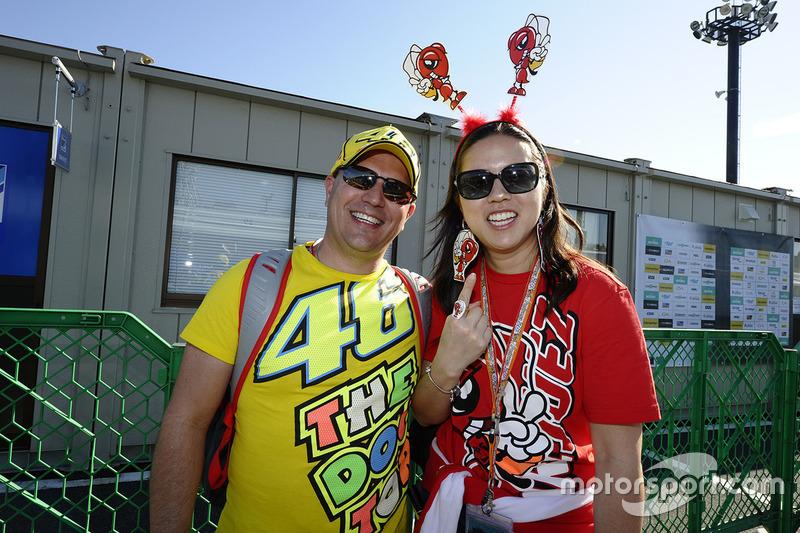 Fans de Valentino Rossi, Yamaha Factory Racing, Marc Márquez, Repsol Honda Team