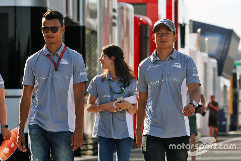 Pascal Wehrlein, Manor Racing with team mate Rio Haryanto, Manor Racing