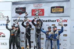 Podium GS: race winners #15 Multimatic Motorsports Ford Shelby GT350R-C: Scott Maxwell, Billy Johnson, second place #33 CJ Wilson Racing Porsche Cayman GT4: Daniel Burkett, Marc Miller, third place #12 Bodymotion Racing Porsche Cayman GT4: Cameron Cassels, Trent Hindman