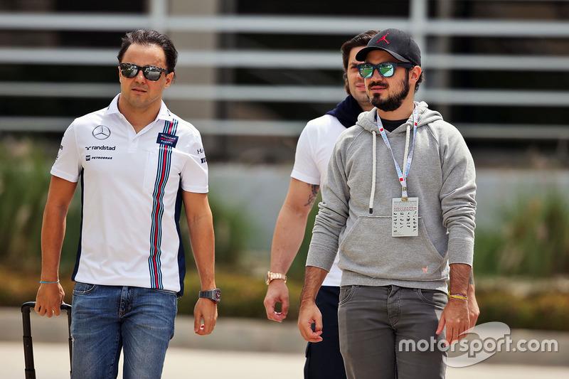 Felipe Massa, Williams with his brother Dudu Massa