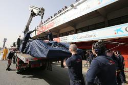 De Scuderia Toro Rosso STR11 van Max Verstappen Scuderia Toro Rosso in de pits
