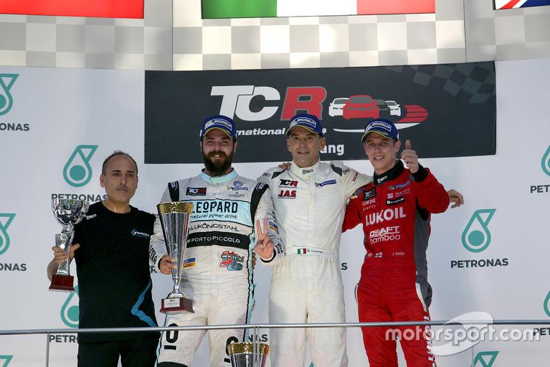 Podium: Sieger Roberto Colciago, Target Competition, Honda Civic TCR; 2. Stefano Comini, Leopard Rac