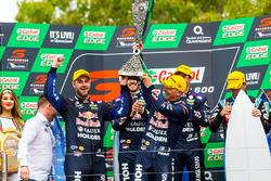 Podium: race winners Jamie Whincup, Paul Dumbrell, Triple Eight Race Engineering Holden, second place Shane van Gisbergen, Alexandre Prémat, Triple Eight Race Engineering Holden