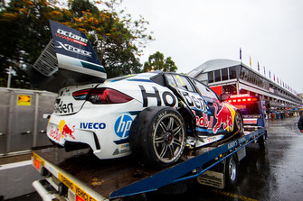 Car of Jamie Whincup, Triple Eight Race Engineering Holden after his crash
