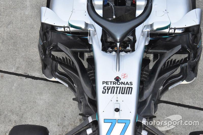 La Mercedes-AMG F1 W09 di Valtteri Bottas