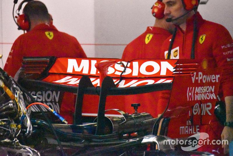 Ferrari SF71H dettaglio dell'ala posteriore