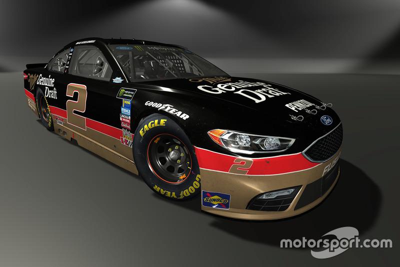 Brad Keselowski, Team Penske, Ford Fusion - NASCAR Heat 3 skin