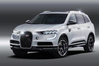 Rendus d'un Bugatti SUV 2020
