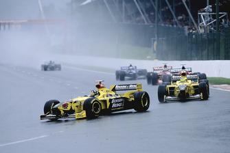 Damon Hill, Jordan 198, Ralf Schumacher, Jordan 198