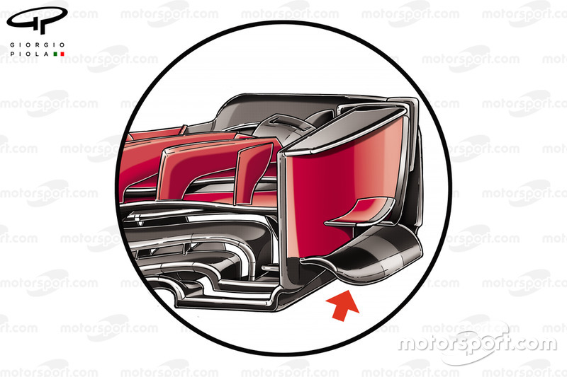 Ferrari SF71H voorvleugel endplate