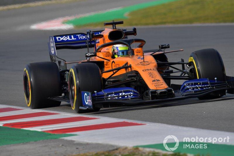 10º Lando Norris, McLaren MCL34, 1:17.084 (neumáticos C5, día 7)