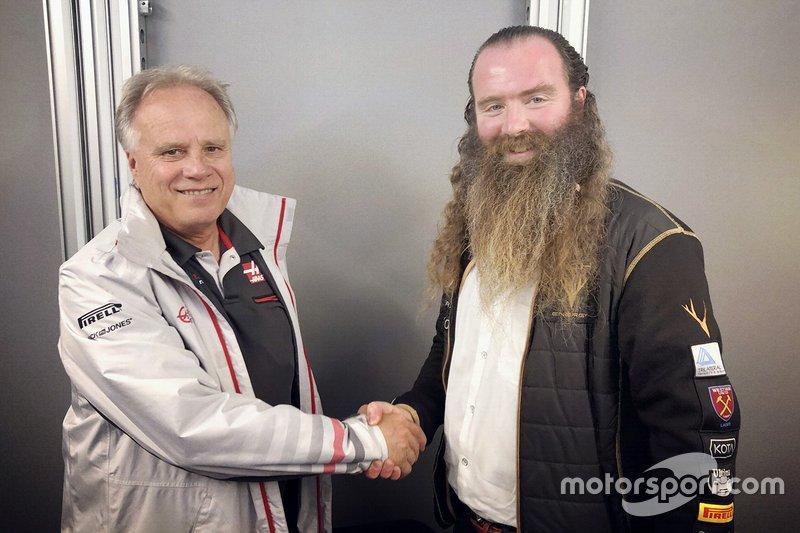 Gene Haas, Haas F1 Team, William Storey, Rich Energy CEO