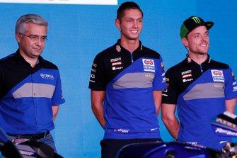 Los pilotos del equipo WorldSBK, Alex Lowes y Michael van der Mark, conferencia de medios Yamaha Motorsports 2019