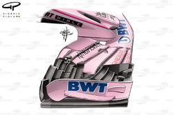Force India VJM10 viejo alerón delantero