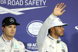 Polesitter: Lewis Hamilton, Mercedes AMG F1, second place Nico Rosberg, Mercedes AMG F1