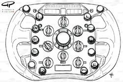 Ferrari F2008 steering wheel